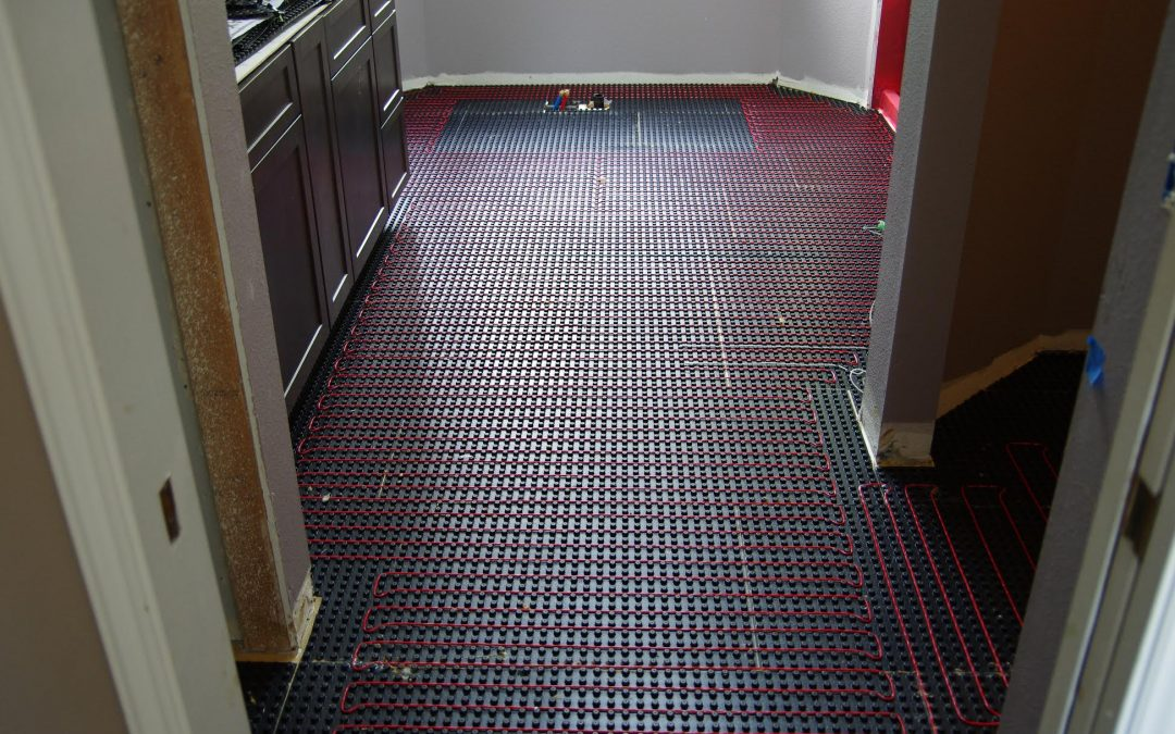 radiant heating system on the floor